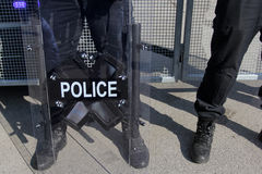 Riot Police. Unit waiting for orders Royalty Free Stock Photography