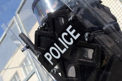 Riot Police. Unit waiting for orders Royalty Free Stock Photo