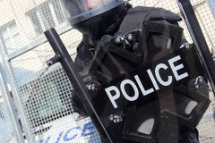 Riot Police. Unit waiting for orders Stock Photography