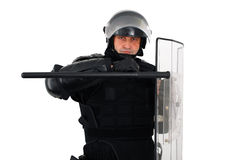 Riot policeman Royalty Free Stock Photography