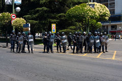 Riot policemen Stock Images