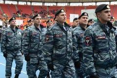 Riot policemen at the stadium Luzhniki Royalty Free Stock Photos