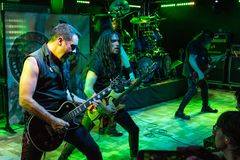 Riot V at Legend Club MI 03-10-2018. Milan, Italy - October 3, 2018: American heavy metal band RIOT V performs at Legend Club. Brambilla Simone Live News royalty free stock photo