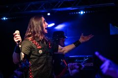 Riot V at Legend Club MI 03-10-2018. Milan, Italy - October 3, 2018: American heavy metal band RIOT V performs at Legend Club. Brambilla Simone Live News stock images