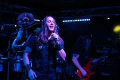 Riot V at Legend Club MI 03-10-2018. Milan, Italy - October 3, 2018: American heavy metal band RIOT V performs at Legend Club. Brambilla Simone Live News stock photography