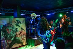 Riot V at Legend Club MI 03-10-2018. Milan, Italy - October 3, 2018: American heavy metal band RIOT V performs at Legend Club. Brambilla Simone Live News stock photos