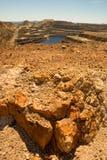 Riotinto mines. Sight of Riotintos mines, Spain Stock Image