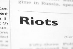 RIOTS Royalty Free Stock Image