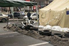 Riots in the Khreschatyk Street in Kiev Stock Photo