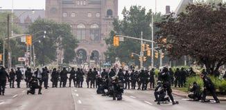 Riots near G20, June 26, 2010 - Toronto, Canada. Royalty Free Stock Photo