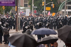 Riots near G20, June 26, 2010 - Toronto, Canada. stock photography