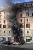 Riots in Rome - Italian Students Protest Royalty Free Stock Photo