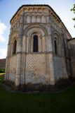 Rioux church abse. General abse view of the romanesque Rioux church. Region of Charente in France Stock Photo