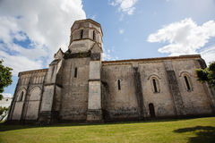 Rioux church fullview. Fullview  of the romanesque Rioux church,Charente, France Stock Photography