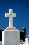 RIP. A grave's cross at Old San Juan cemetery Stock Image