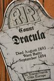 RIP Count Dracula Royalty Free Stock Images