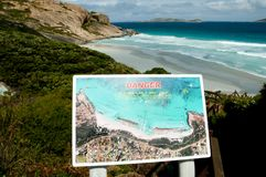 Rip Current Beach Sign. Australia Royalty Free Stock Photos