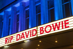 RIP David Bowie at the Hammersmith Apollo Royalty Free Stock Images
