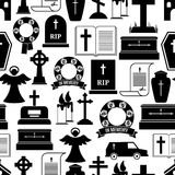 RIP and funeral background pattern Royalty Free Stock Images