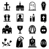 RIP-geplaatste pictogrammen Stock Afbeelding