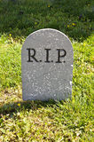 RIP Halloween grave decoration on yard Royalty Free Stock Photo