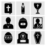 RIP Icons Set Royalty Free Stock Images