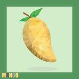 Rip mango polygonal isolated illustration Stock Image