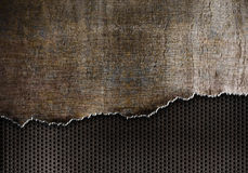 Rip metal background with rust torn edges. Rust grunge metal background with torn edges Royalty Free Stock Photo