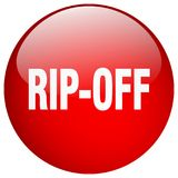 Rip-off button. Rip-off round button isolated on white background. rip-off royalty free illustration