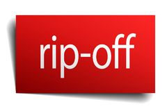 Rip-off sign. Rip-off square paper sign isolated on white background. rip-off button. rip-off stock illustration