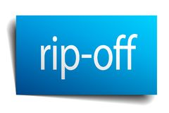 Rip-off sign. Rip-off square paper sign isolated on white background. rip-off button. rip-off royalty free illustration