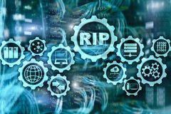 RIP Routing Information Protocol. Technology networks cocept. RIP Routing Information Protocol. Technology networks cocept stock photos