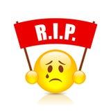 Rip sad vector emoticon Stock Photography