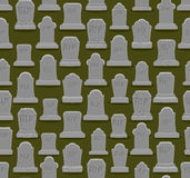 RIP seamless pattern. Old gravestone ornament. Cemetery backgrou Royalty Free Stock Photography
