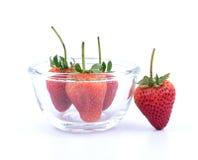 Rip strawberry stock photo