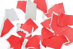 Rip torn paper texture background. Pieces of rip torn paper texture background, copy space Stock Photography