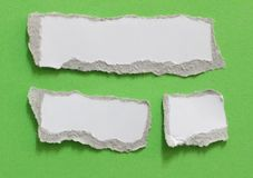 Rip torn paper texture background. Pieces of rip torn paper texture background, copy space Royalty Free Stock Photos