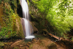 Ripaljka-Wasserfall, Ozren-Berg, Sokobanja, Serbien Stockfotos