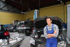 Riparatore dell'automobile Fotografia Stock Libera da Diritti
