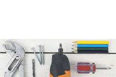 Riparazione, costruzione e rinnovamento domestici Fotografia Stock