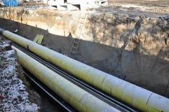 Riparazione dei condotti termici Fotografia Stock Libera da Diritti