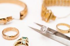 Riparazione dei gioielli Fotografia Stock