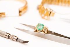 Riparazione dei gioielli Immagini Stock Libere da Diritti