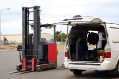 Riparazione del carrello elevatore Immagine Stock Libera da Diritti