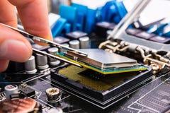 Riparazione del computer Immagini Stock