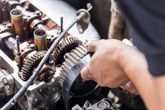 Riparazione del motore Fotografia Stock