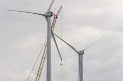 Riparazione del mulino a vento Immagini Stock