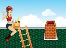 Riparazione del tetto illustrazione di stock