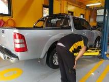 Riparazione dell'automobile e servizi di manutenzione Fotografia Stock Libera da Diritti