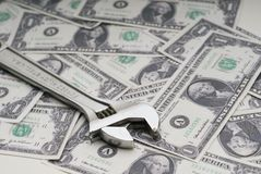 Riparazione dell'economia americana Immagine Stock Libera da Diritti